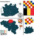 map of antwerp belgium vector image