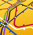 metro scheme on yellow vector image vector image