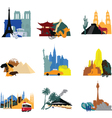 miniatures different countries vector image