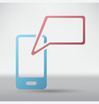 mobile communication icon vector image vector image