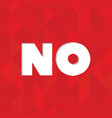 no word in red square web button vector image vector image