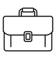 office manager briefcase icon outline style vector image vector image