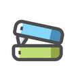 office stapler simple icon cartoon vector image