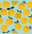 orange fruits seamless pattern vector image vector image