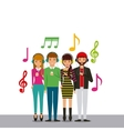 people and music design vector image vector image
