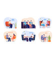 people in cafe person drink espresso flat modern vector image vector image