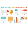 percentages data visualization vector image vector image