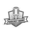 podcast logo icon design template vector image vector image