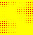 popart halftone pattern background yellow and red vector image vector image