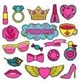 Princess Fashion Patches Set vector image vector image
