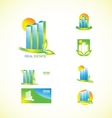 Real estate logo icon set vector image vector image