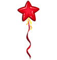 Red balloon with star shape vector image vector image