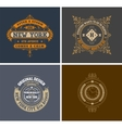 Retro cards Business sign identity for vector image vector image