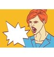 screaming woman art Business lady boss in vector image vector image
