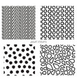 seamless doodle textures set of 4 vector image
