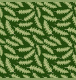 seamless pattern with paint prints fern leaves vector image