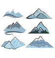 set mountains collection stylized mountain vector image vector image