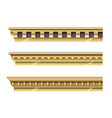 set of classical gold cornices vector image vector image