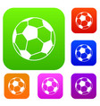 soccer ball set collection vector image vector image