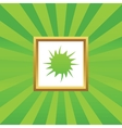 Starburst picture icon vector image vector image