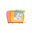 street fast food trailer cartoon vector image vector image