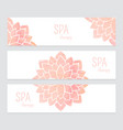 templates of banners watercolor flowers vector image vector image