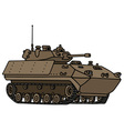 Track armoured vehicle vector image vector image