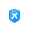 travel insurance logo vector image