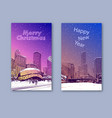 trendy cover template winter city chicago city vector image