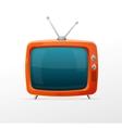 Tv retro cartoon style vector image vector image