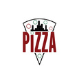 urban pizza slice design template vector image vector image
