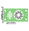 video gpu card composition of dollar and dots vector image vector image