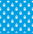 wedding cake pattern seamless blue vector image vector image