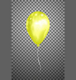 yellow air balloon eps10 vector image vector image