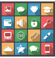 icons set for web in flat design vector image