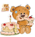 a brown teddy bear sweet vector image