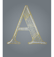 Abstract golden letter A vector image vector image