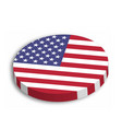 american flag circle 3d button with dropped shadow vector image vector image