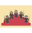 Ancient japanese soldier flat graphic vector image vector image