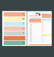 autumn daily planner page organizer vector image