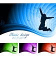 beautiful musical backdrop vector image vector image