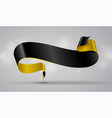 black and gold curved ribbon vector image vector image