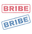 bribe textile stamps vector image vector image