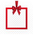 bright holiday gift box frame banner hanging with vector image vector image