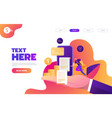 business mobile application isometric vector image vector image