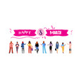 business women group standing together vector image
