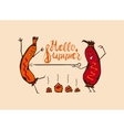 Cartoon Summer BBQ vector image vector image