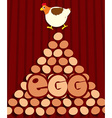 Chicken and many eggs vector image vector image