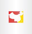 china logo map icon vector image vector image