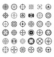 crosshair target sight icons set simple style vector image vector image